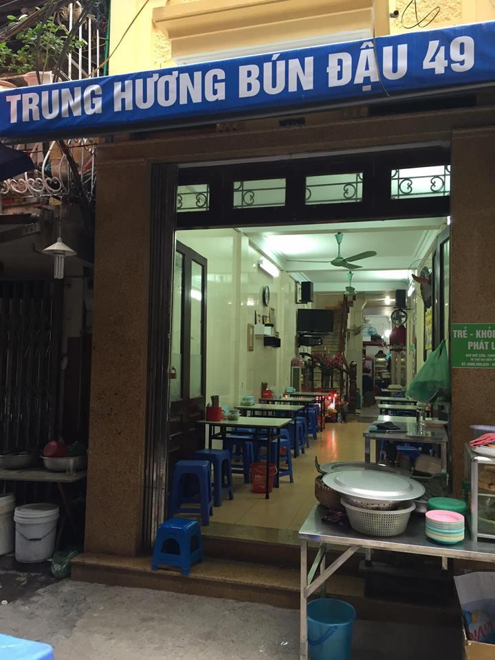 địa chỉ quán Bún đậu Trung Hương