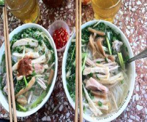 Bún thang tại Hà Nội có ngước ngọt trong veo rất đậm đà