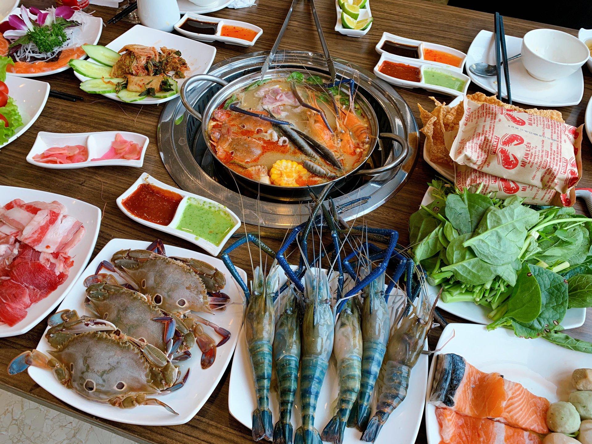 dragon sea buffet hai san ha dong