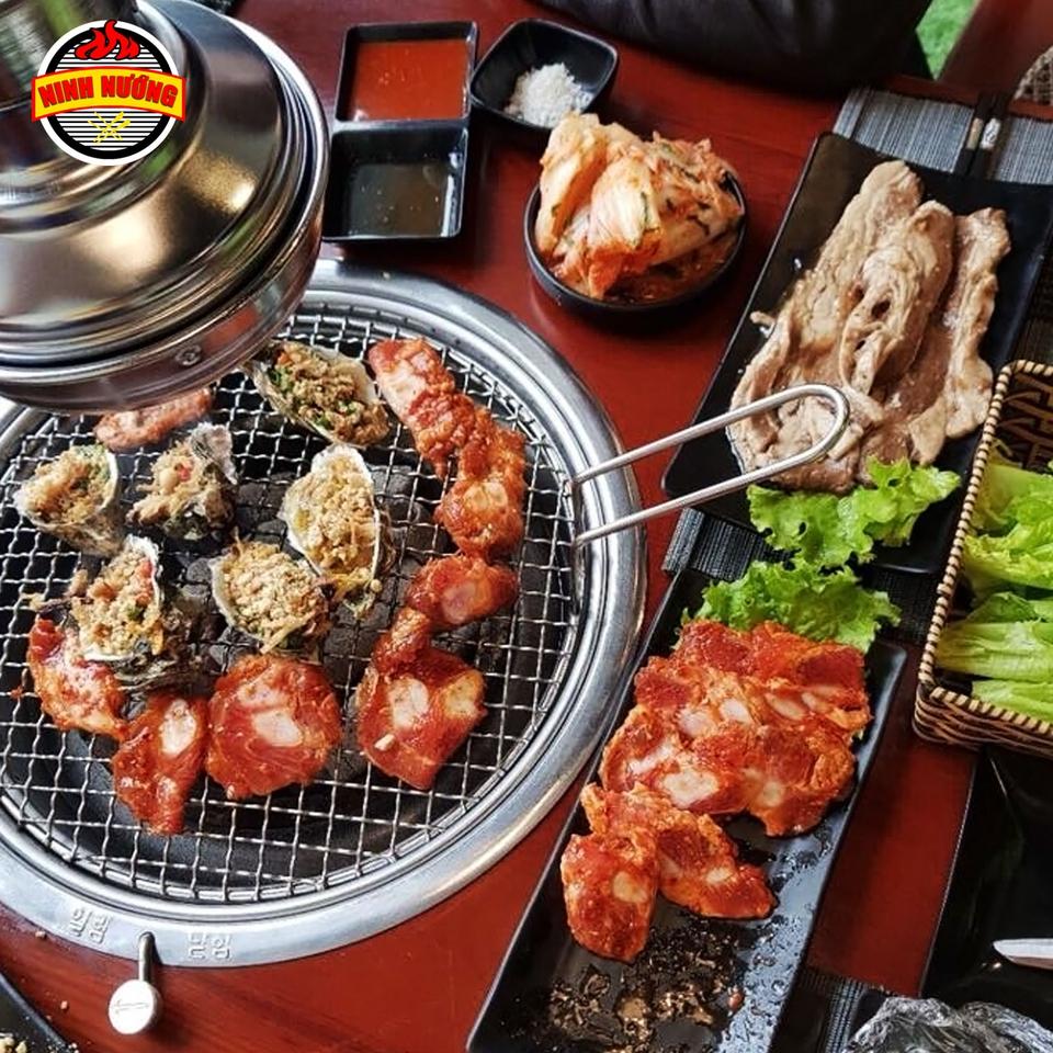 ninh nuong than hoa buffet ha dong