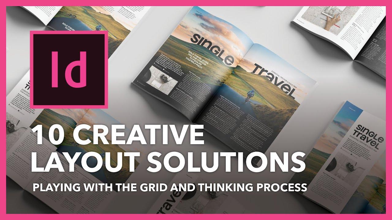 InDesign - Bài 6 - 10 cách tư duy layout trang đôi tạp chí - 10 magazine layout solutions in grid