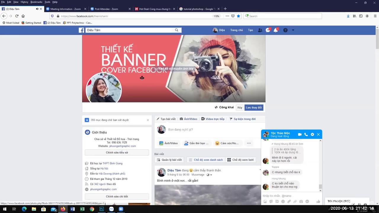 Hướng dẫn thiết kế ảnh bìa facebook phù hợp với cả máy tính và điện thoại