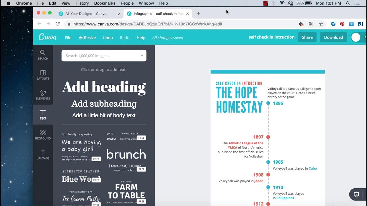 5 phút hướng dẫn thiết kế nhanh infographic với công cụ Canva