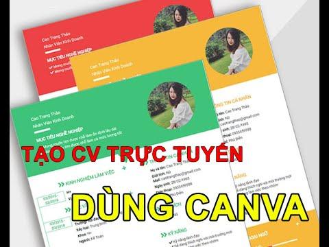 Hướng dẫn dùng CANVA tạo CV, sơ yếu lý lịch trực tuyến