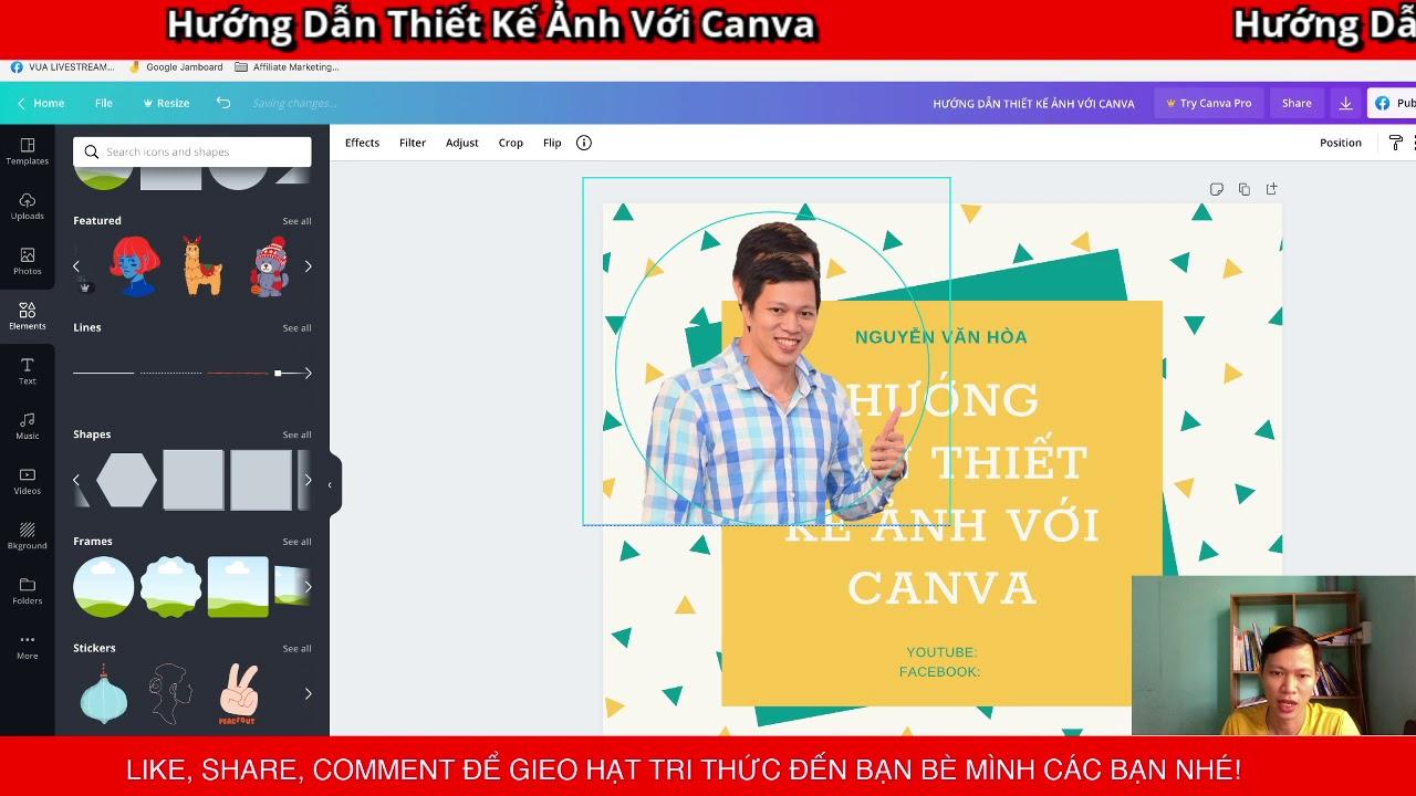 Hướng dẫn sử dụng Canva cơ bản để thiết kế, chỉnh sửa ảnh