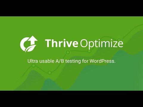Thrive Optimize | Plugin Thực Hiện A/B Test Website Wordpress Tuyệt Vời