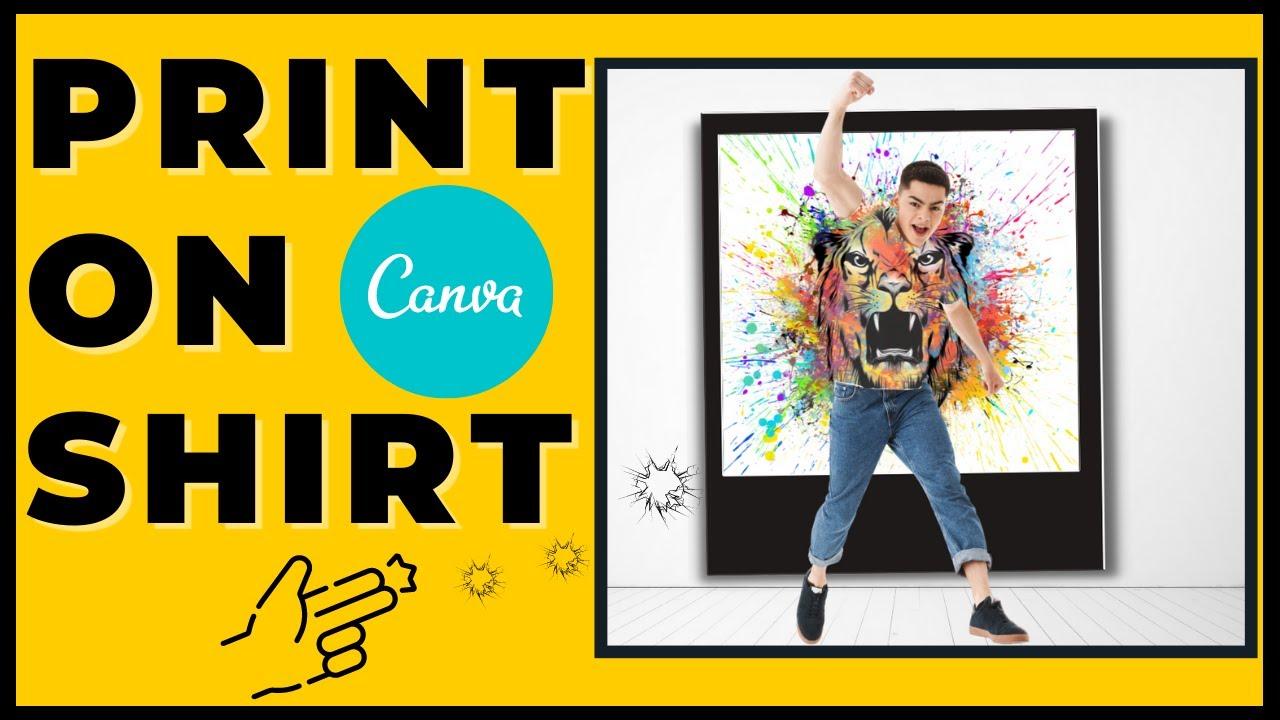 Hướng Dẫn Canva | Làm Hiệu Ứng In Trên Áo Trong Canva | ✅ Making Print Effect On Shirts In Canva