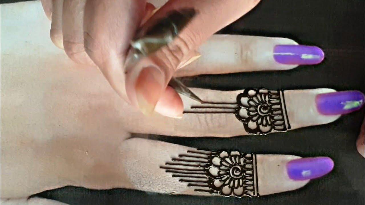 Easy Fingertip Mehndi Design 2021   Latest and Beautiful Finger Henna Design For Beginners   #Shorts
