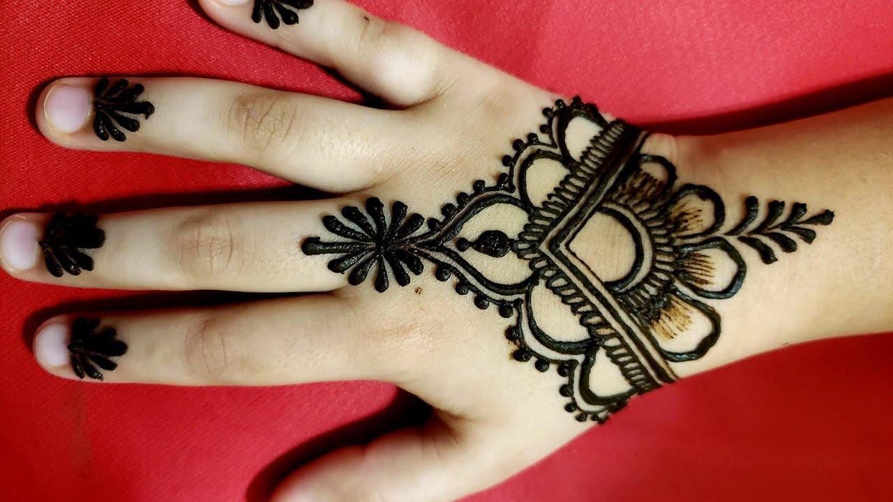 ❤Beautiful Back Hand Henna Mehndi Design | Stylish Mehndi by Asma |Cone Designs|Shading kids Mehandi