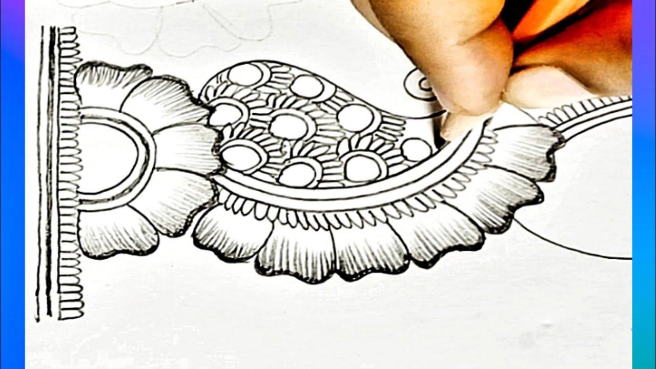 Pencil Shading Mehandi Design For Beginners?| Full Hand Mehndi Design | Stylish Mehndi by Asma| حنه