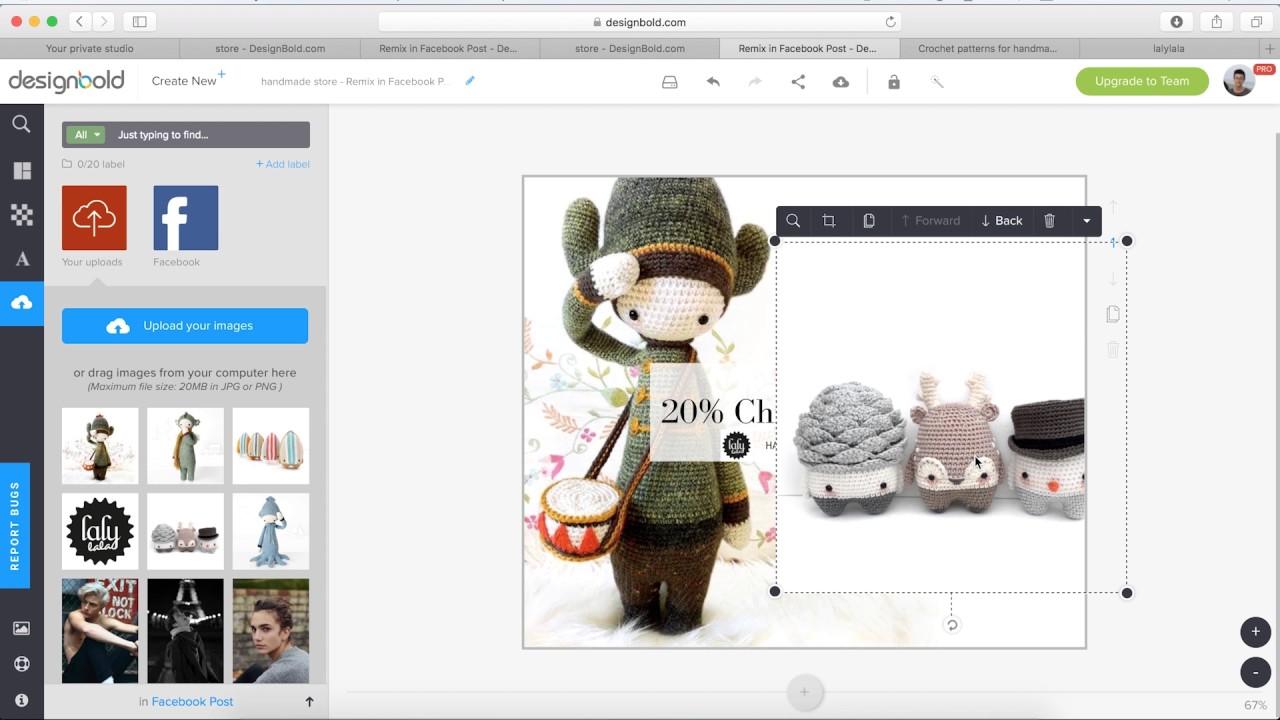 How to design a Facebook post? Using DesignBold