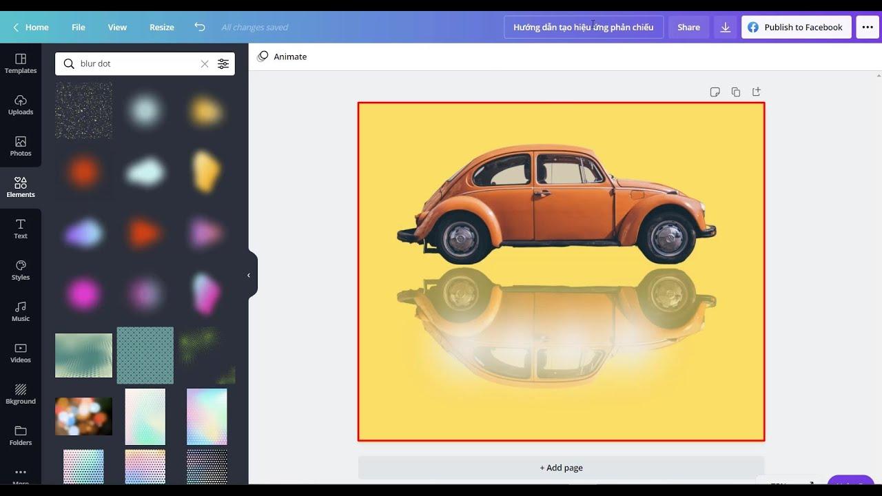 Tạo hiệu ứng phản chiếu hình ảnh với Canva Pro