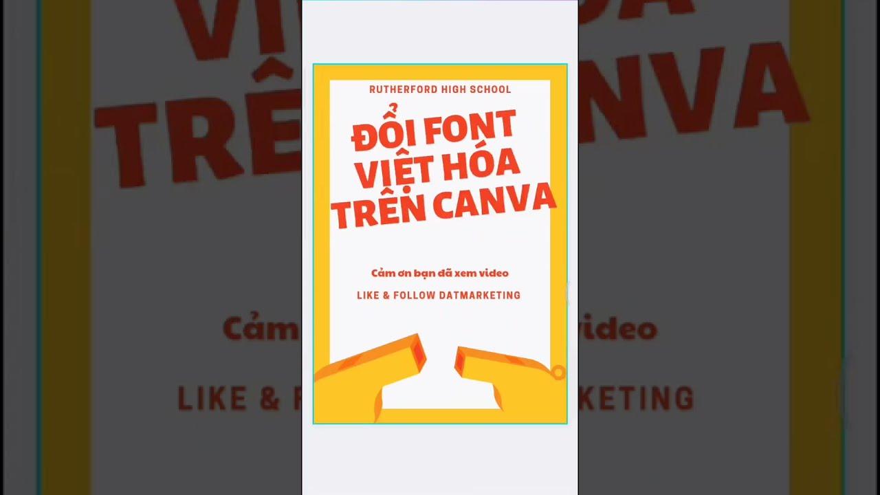 Chọn Font chữ Việt Hóa cơ bản trong Canva l Datcanva #short