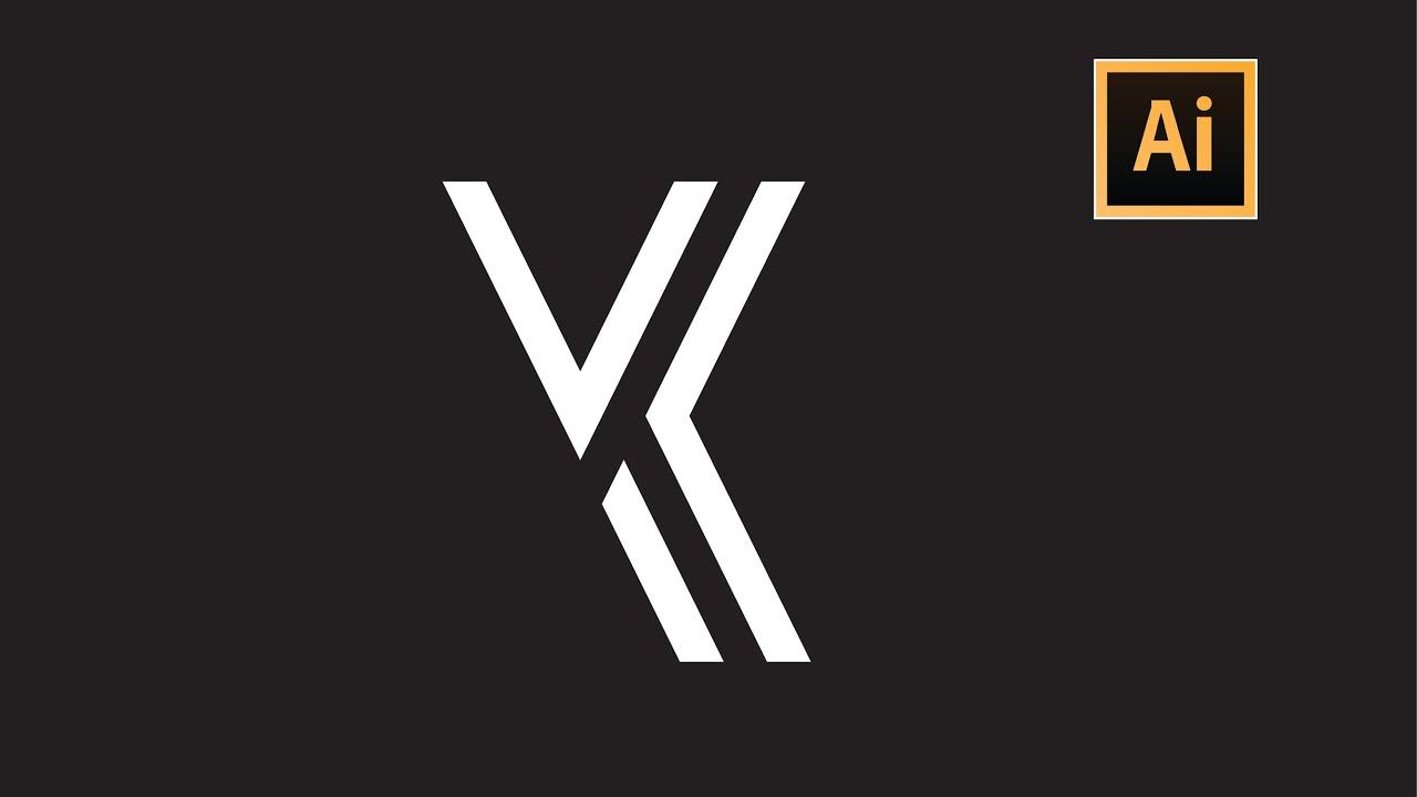 YK Letter Logo Design | Adobe Illustrator Tutorial
