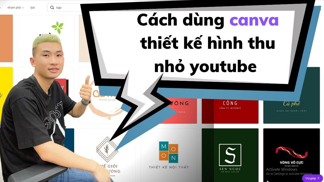Cách dùng canva thiết kế hình thu nhỏ youtube