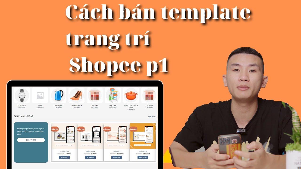 Tìm hiểu cách bán template shopee bằng Canva