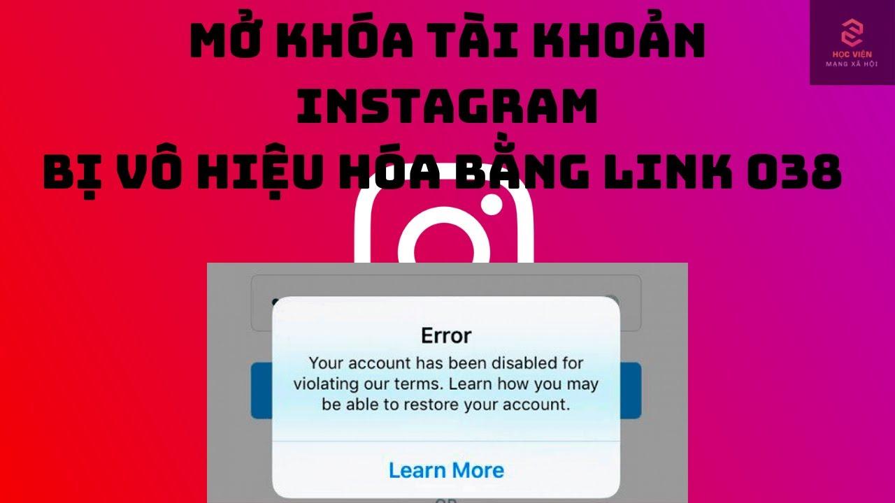 Mở Khóa Tài Khoản Instagram Bị Vô Hiệu Hóa 100 % Nhận Email Thông Báo