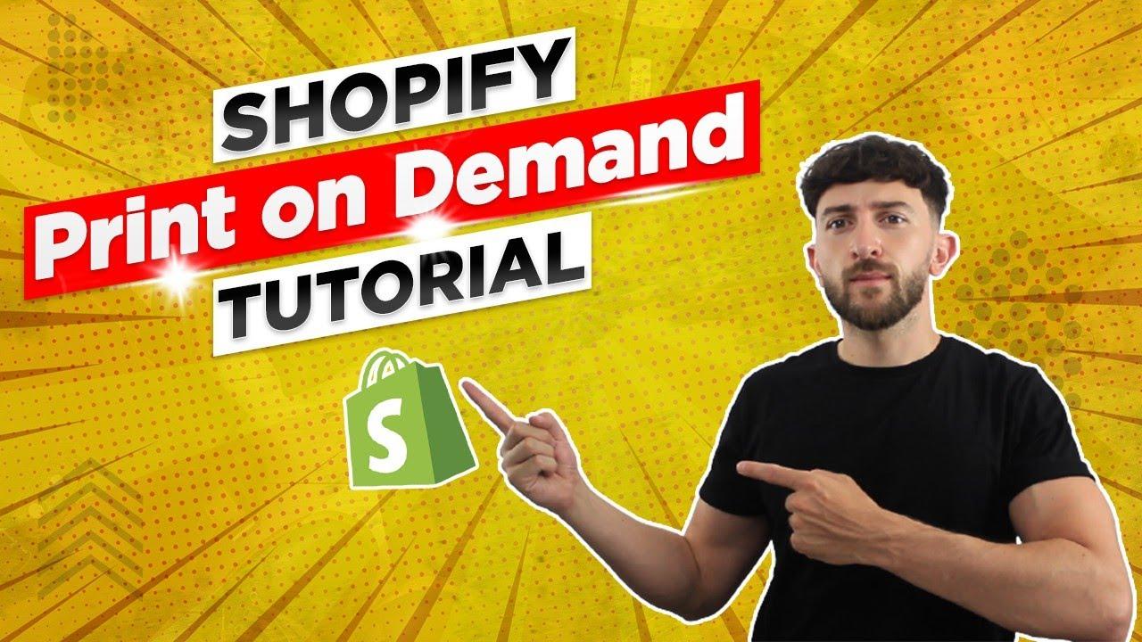Shopify Print on Demand Tutorial (2022)