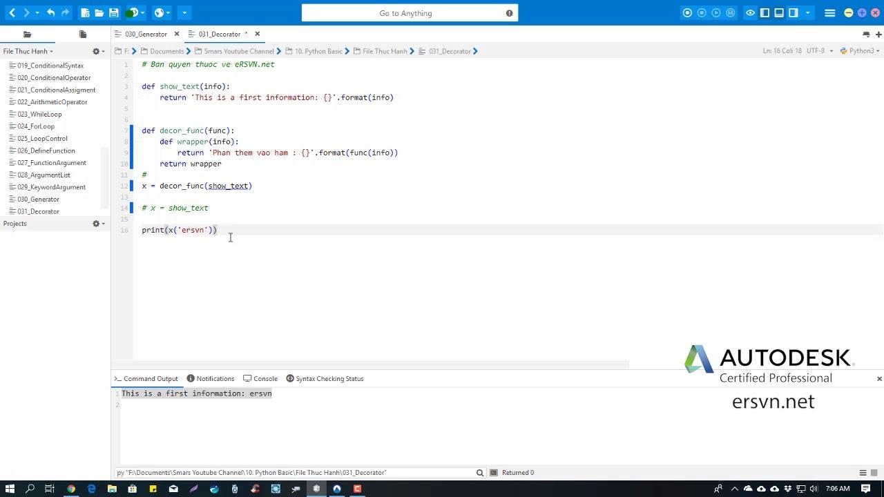 Cơ bản Python   Bài 32: Tìm hiểu về Decorator trong Python