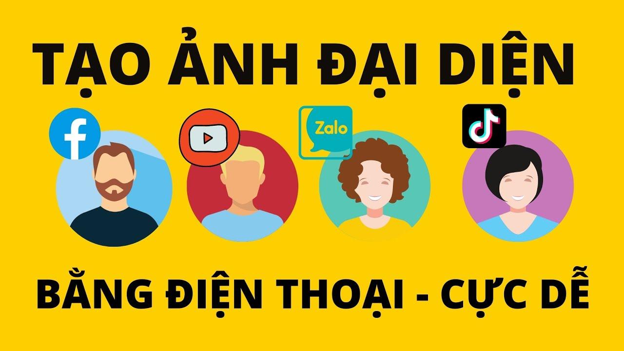Cách làm ảnh đại diện Facebook - Youtube - Zalo - Tiktok trên điện thoại sử dụng Canva