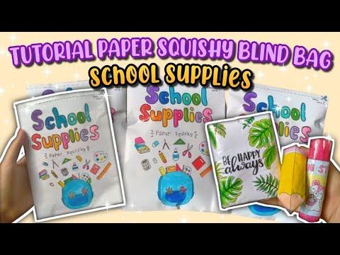TUTORIAL PAPER SQUISHY BLIND BAG || School Supplies Paper Squishy surprise (Homemade)