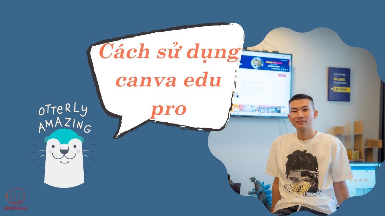 Cách sử dụng canva edu pro | canva pro miễn phí