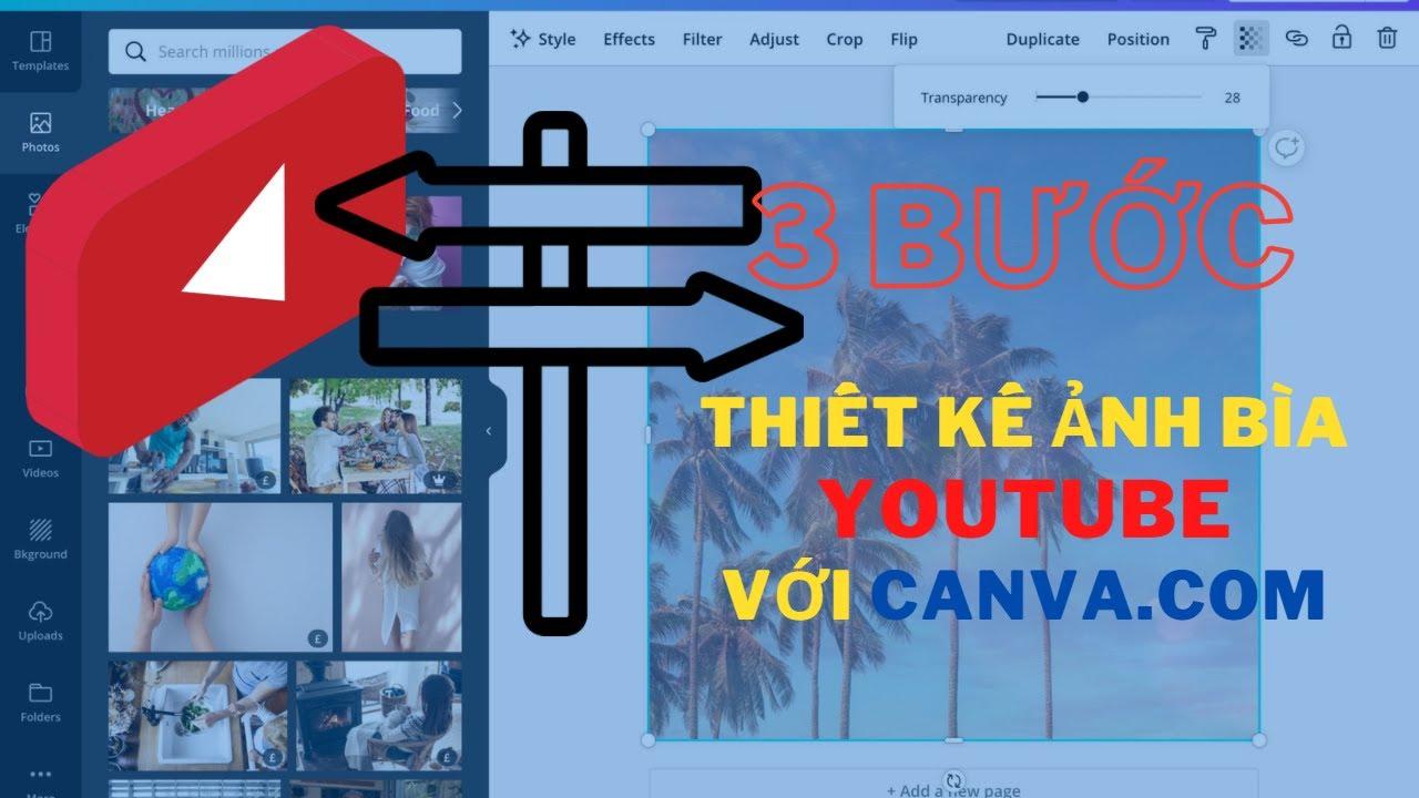 Youtube 2021, Kiếm tiền youtube 2021, Hướng Dẫn Thiết Kế ảnh Bìa Với Canva.com