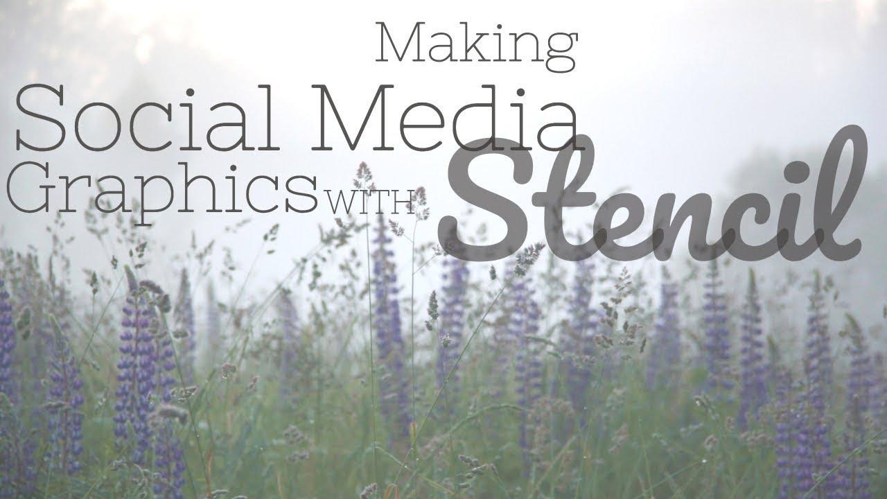 SOCIAL MEDIA GRAPHICS + GIFT SHOP TALK | Stencil Tutorial