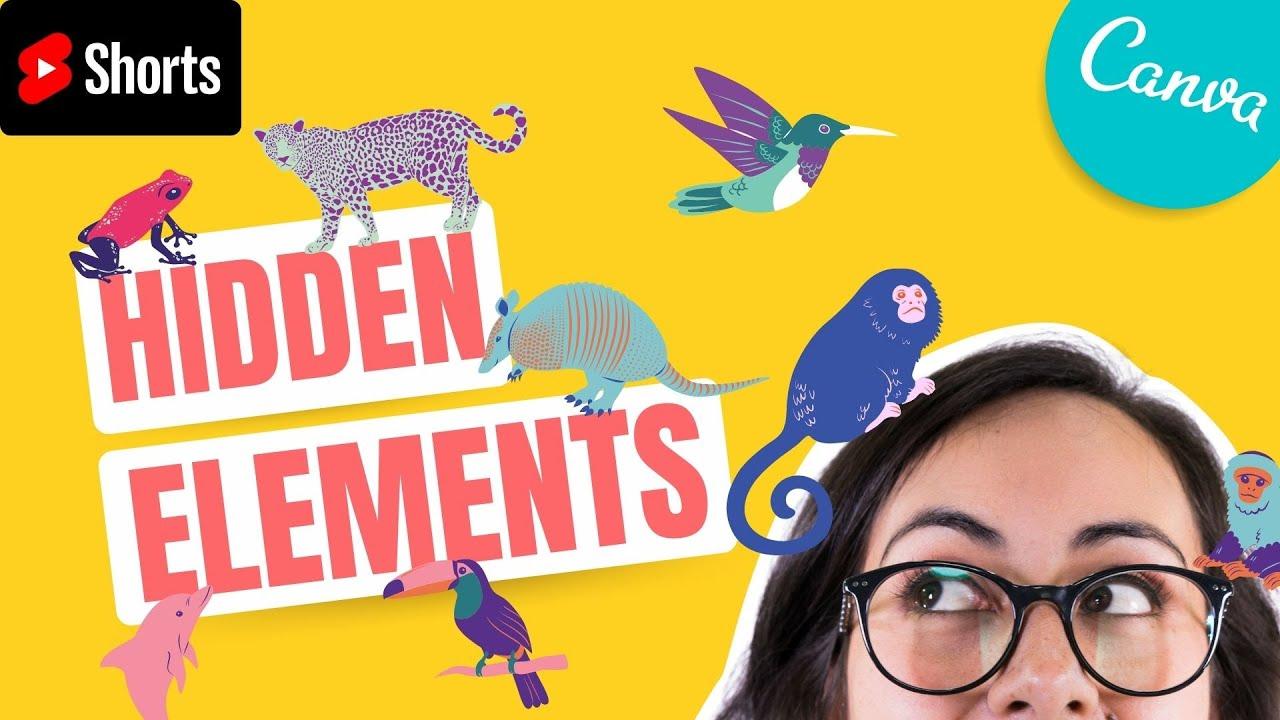 FREE: Canva Hidden elements # 3 | Shorts with Diana Muñoz