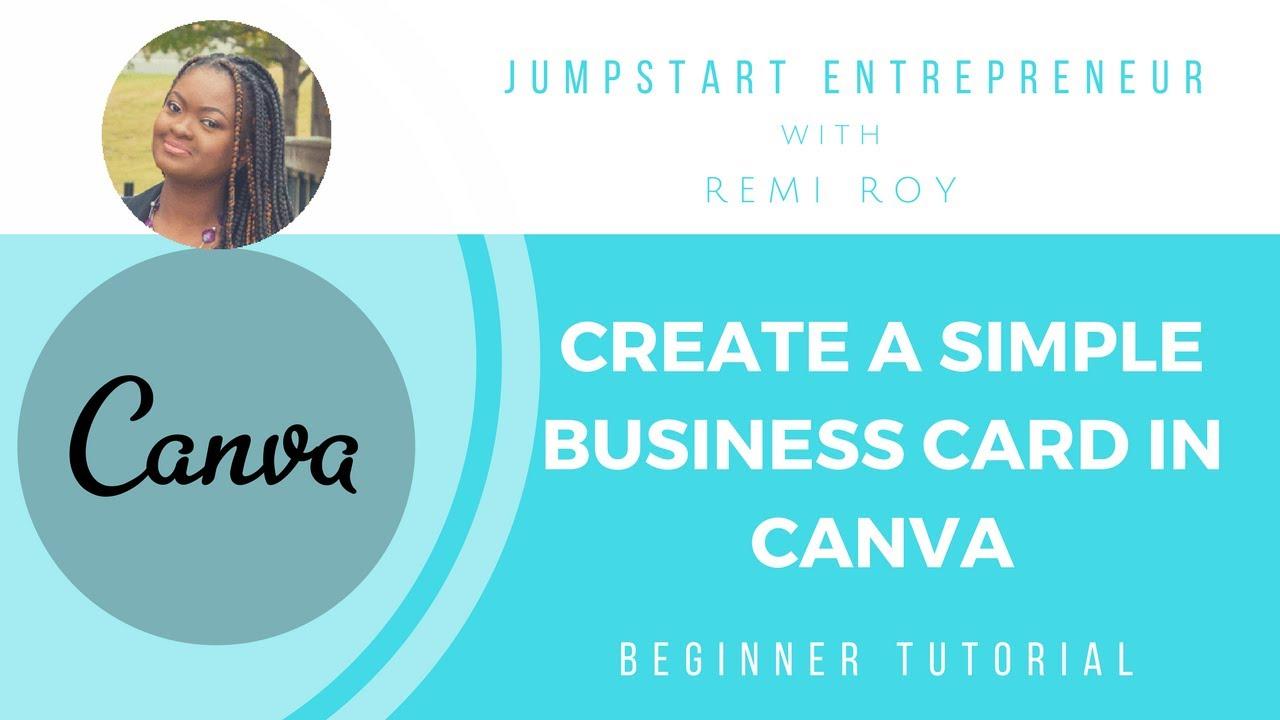 Create a Simple Business Card in Canva: Beginner Tutorial