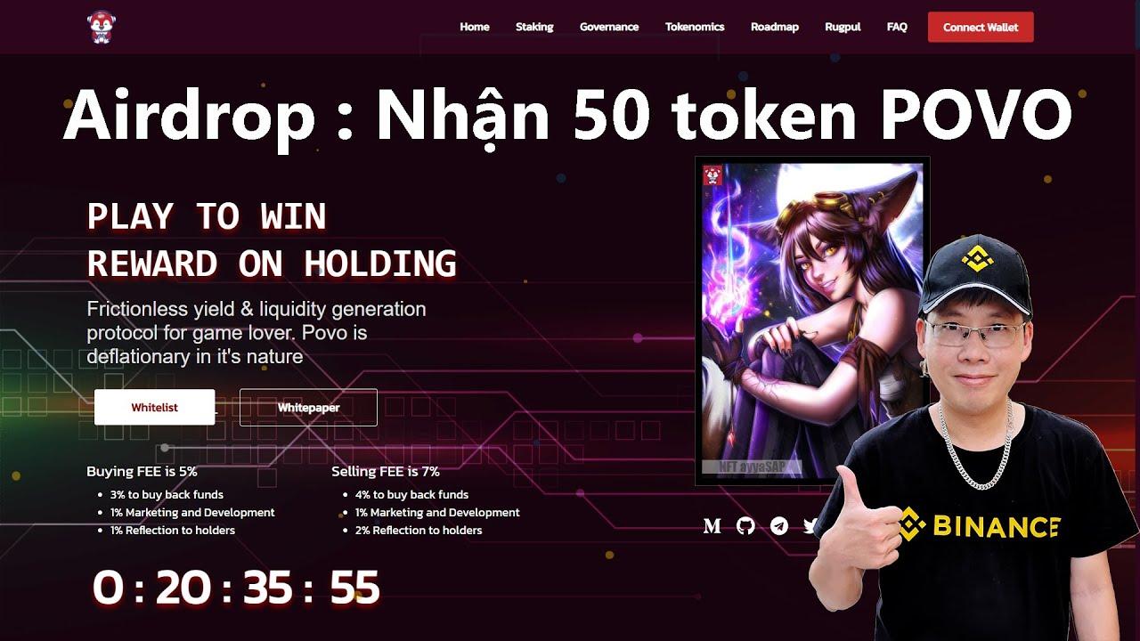 Hướng dẫn nhận 50 token POVO mạng BSC