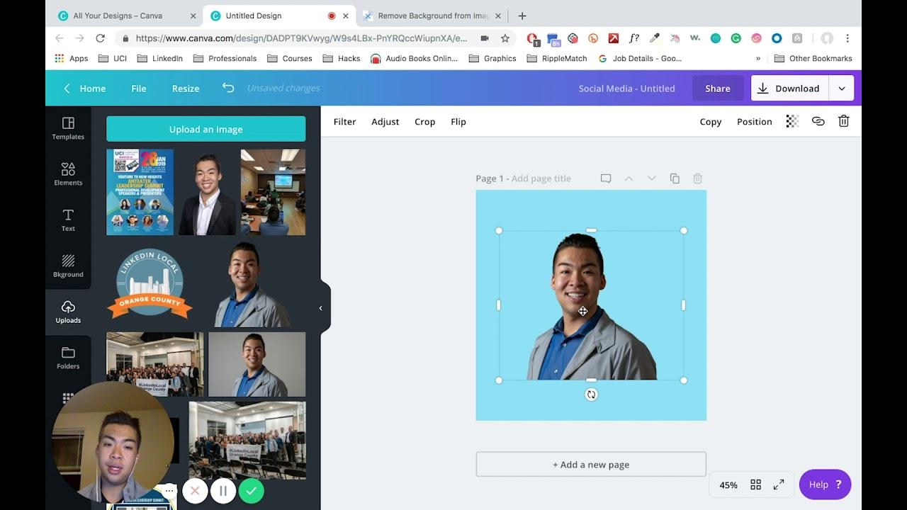 Canva Created Tutorial: LinkedIn Profile Photo