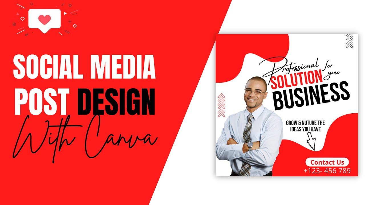 Social Media Design in canva | Professional Instagram Post |Tutorial | Designtalk | Part 4 |