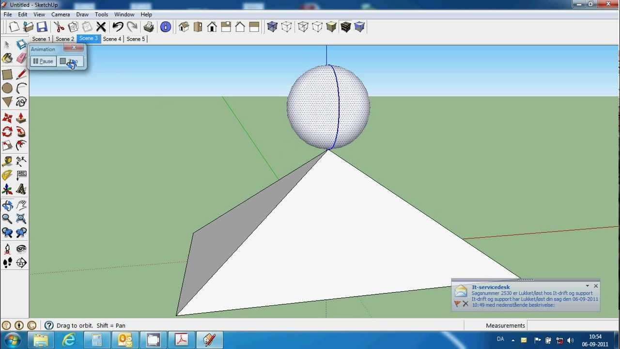 SketchUp øvelse  animation af bold