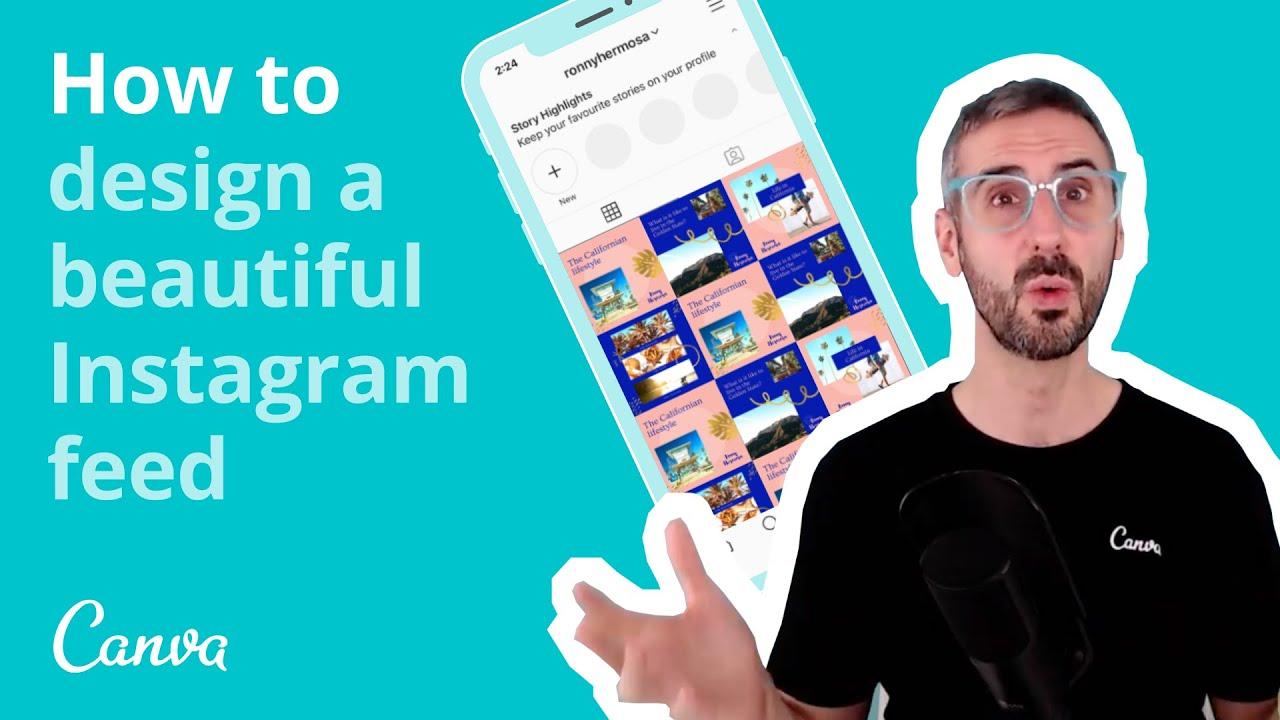 Cách thiết kế một nguồn cấp dữ liệu Instagram đẹp với Canva