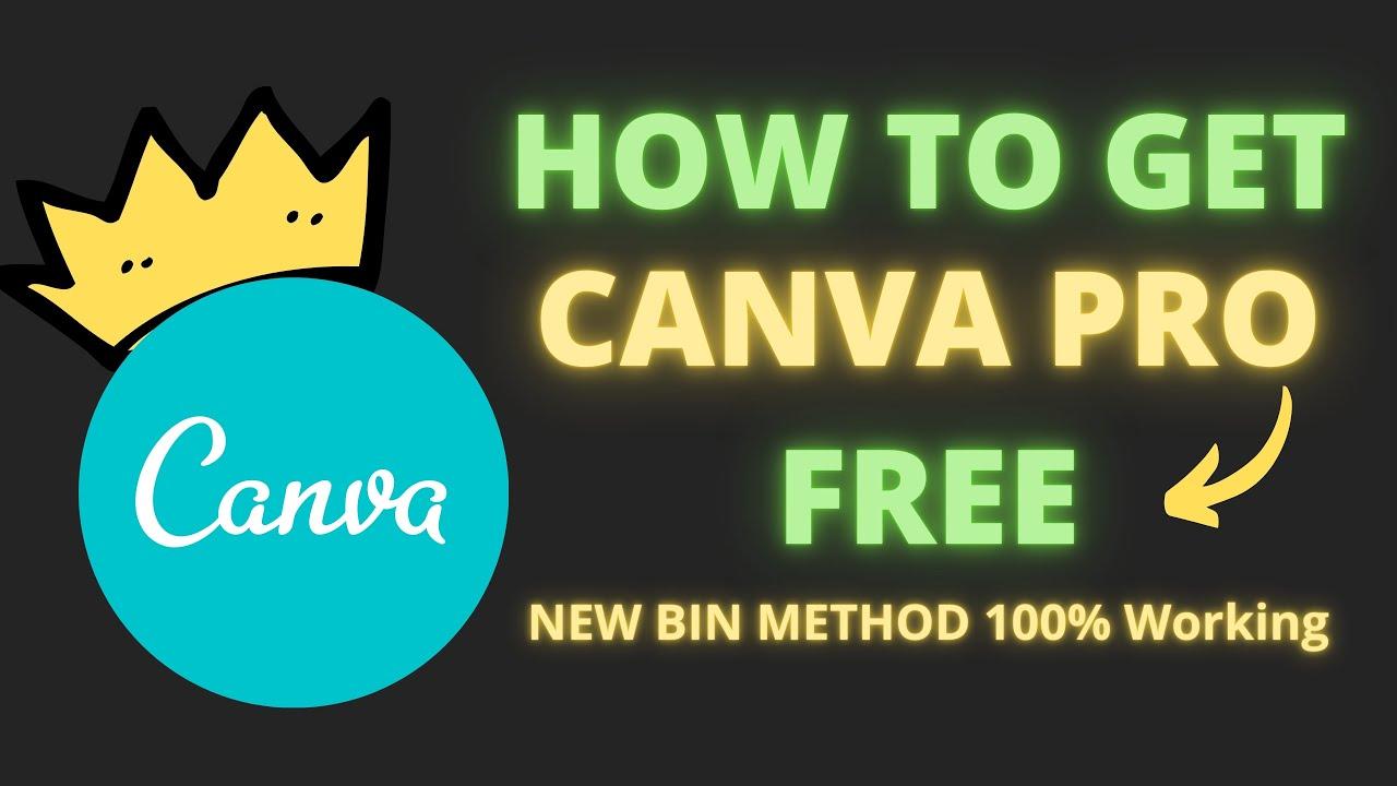 Canva Pro Free ( New Bin Method ) 100% Working - Learn And Earn Live Stream ?