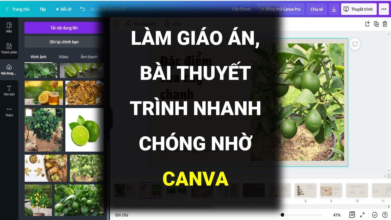 BÍ QUYẾT TẠO NHỮNG BÀI THUYẾT TRÌNH, GIÁO ÁN POWERPOINT CHUYÊN NGHIỆP TỪ CANVA- Đào Vân Anh