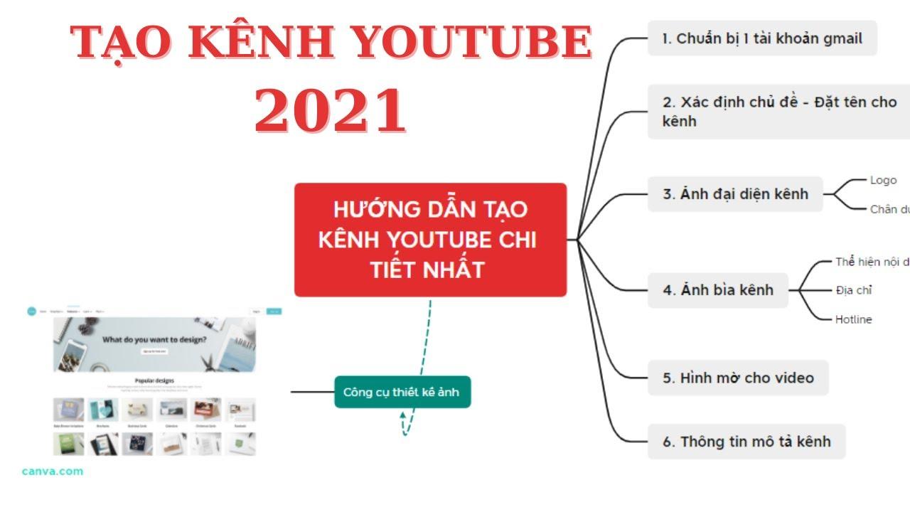 Hướng Dẫn Tạo Kênh YouTube Chi Tiết Nhất | Kênh YouTube 2021