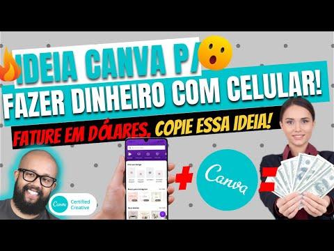 Como ganhar dinheiro com o Canva no celular- EM DÓLAR - COPIE ESSA IDEIA JÁ!