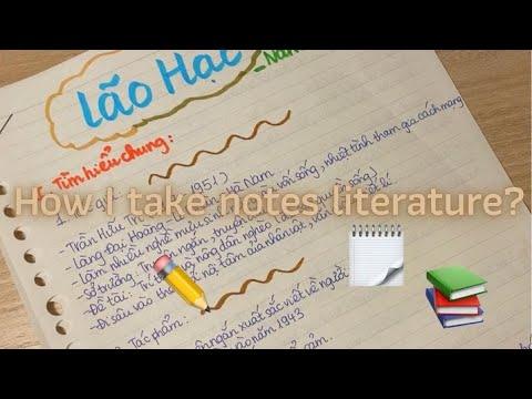 Cách mình ghi chép môn văn // How i take notes literature✏️??#takenotes