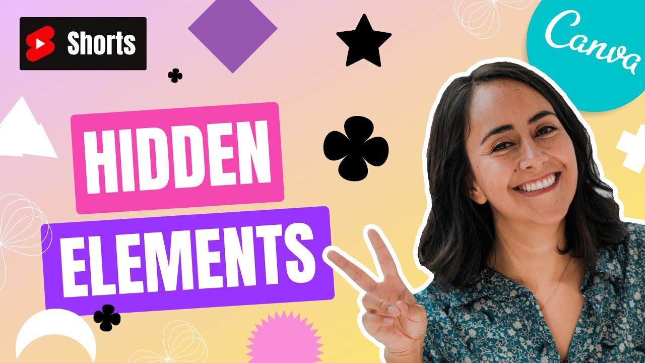 FREE: Canva Hidden elements - Basic Shape Loop | Shorts with Diana Muñoz