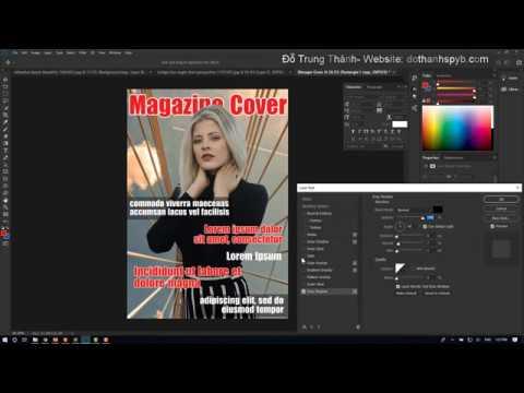 Thiết kế Bìa Tạp chí với Adobe Photoshop CC 2019