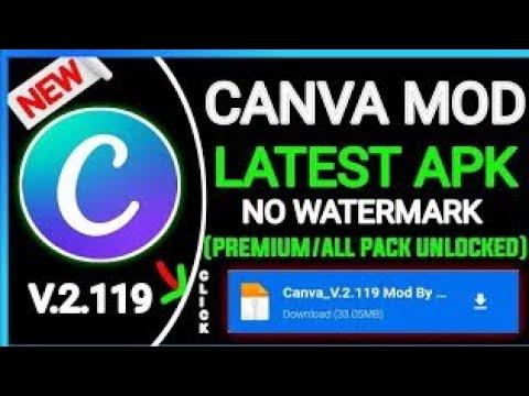 Canva Mod APK Full Unlocked || canva premium v2.1 Canva Free || Canva All features free 2021