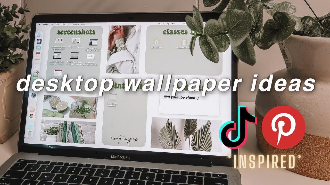 LAPTOP DESKTOP WALLPAPER IDEAS  tiktok, macbook customization, background, aesthetic, canva tutorial