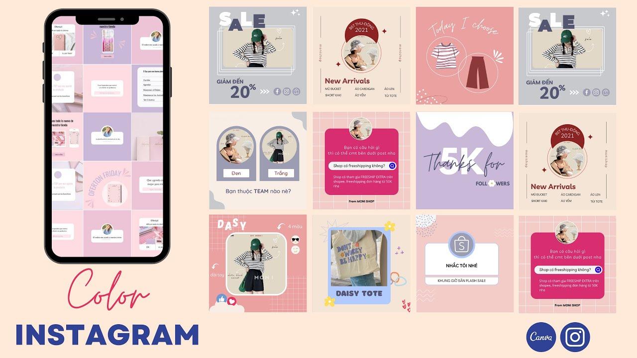 INSTAGRAM PUZZLE: Hướng dẫn thiết kế Instagram template bằng Canva (P2)