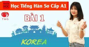 Học tiếng Hàn sơ cấp 1 Online - Bài 1 Bảng Chữ Cái Hàn Quốc P1